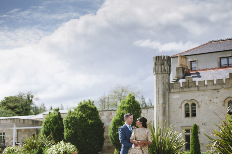 lough eske castle wedding bride and groom