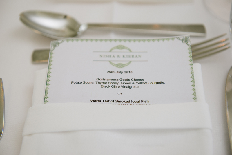 lough eske castle wedding menu