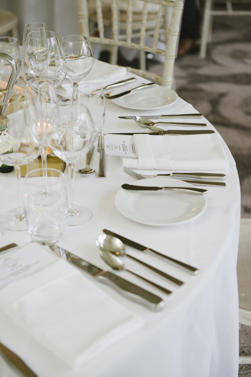 lough eske castle wedding table