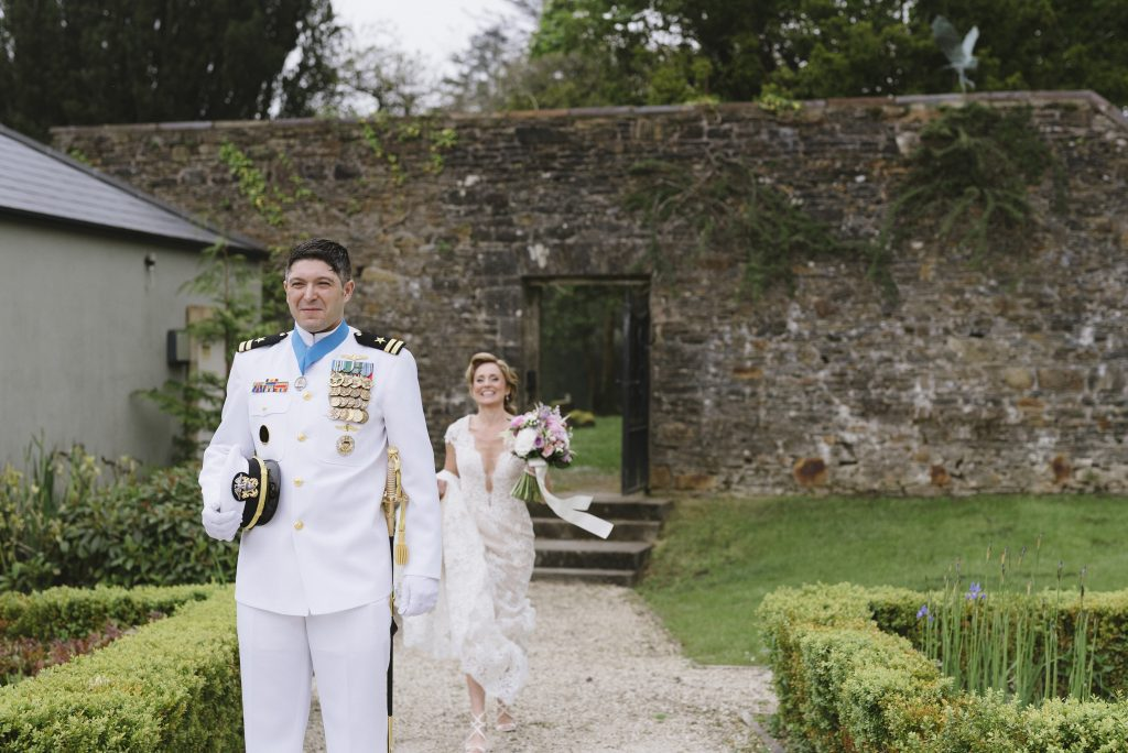 First look US Navy Wedding