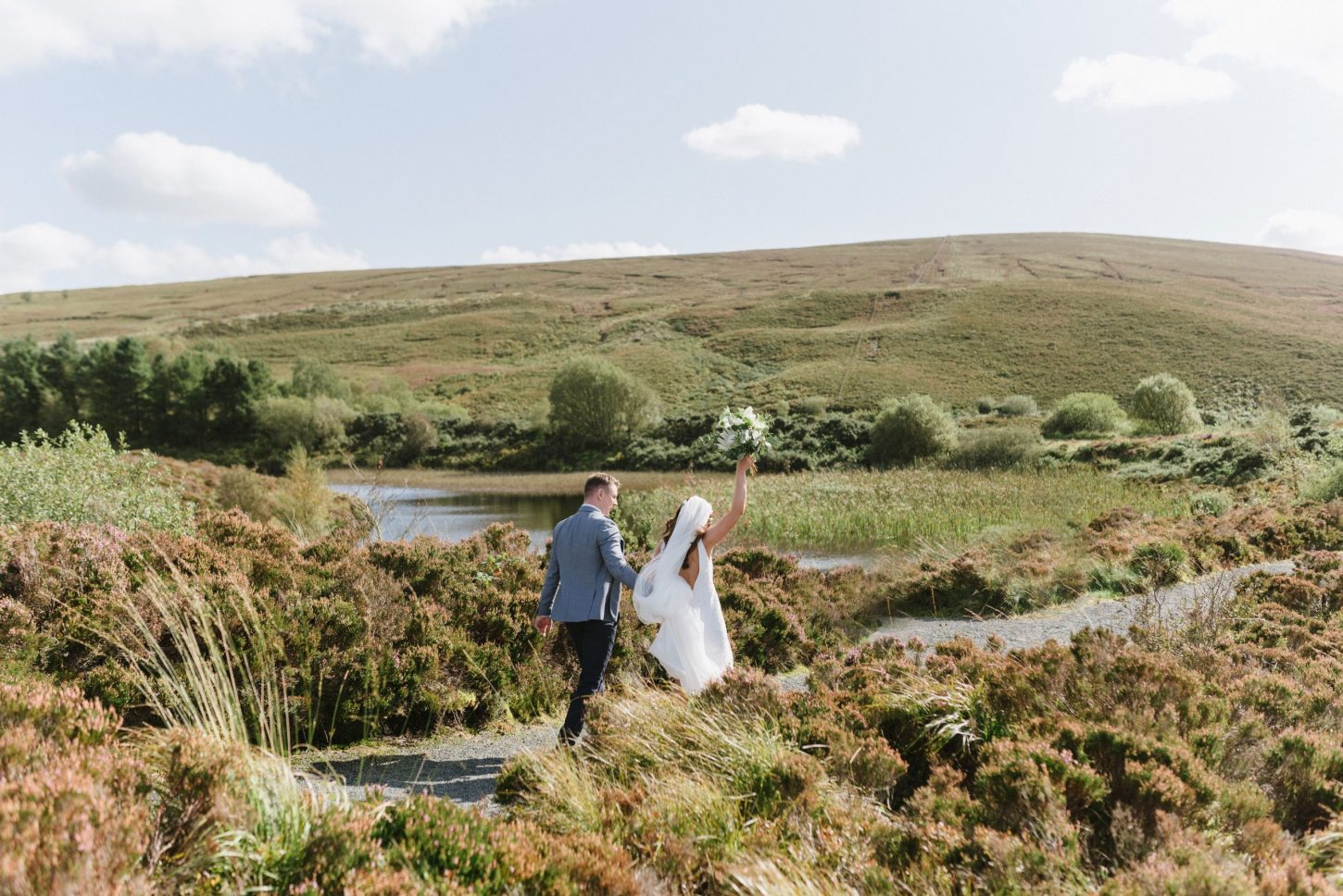 bride and groom at Gortin Glen