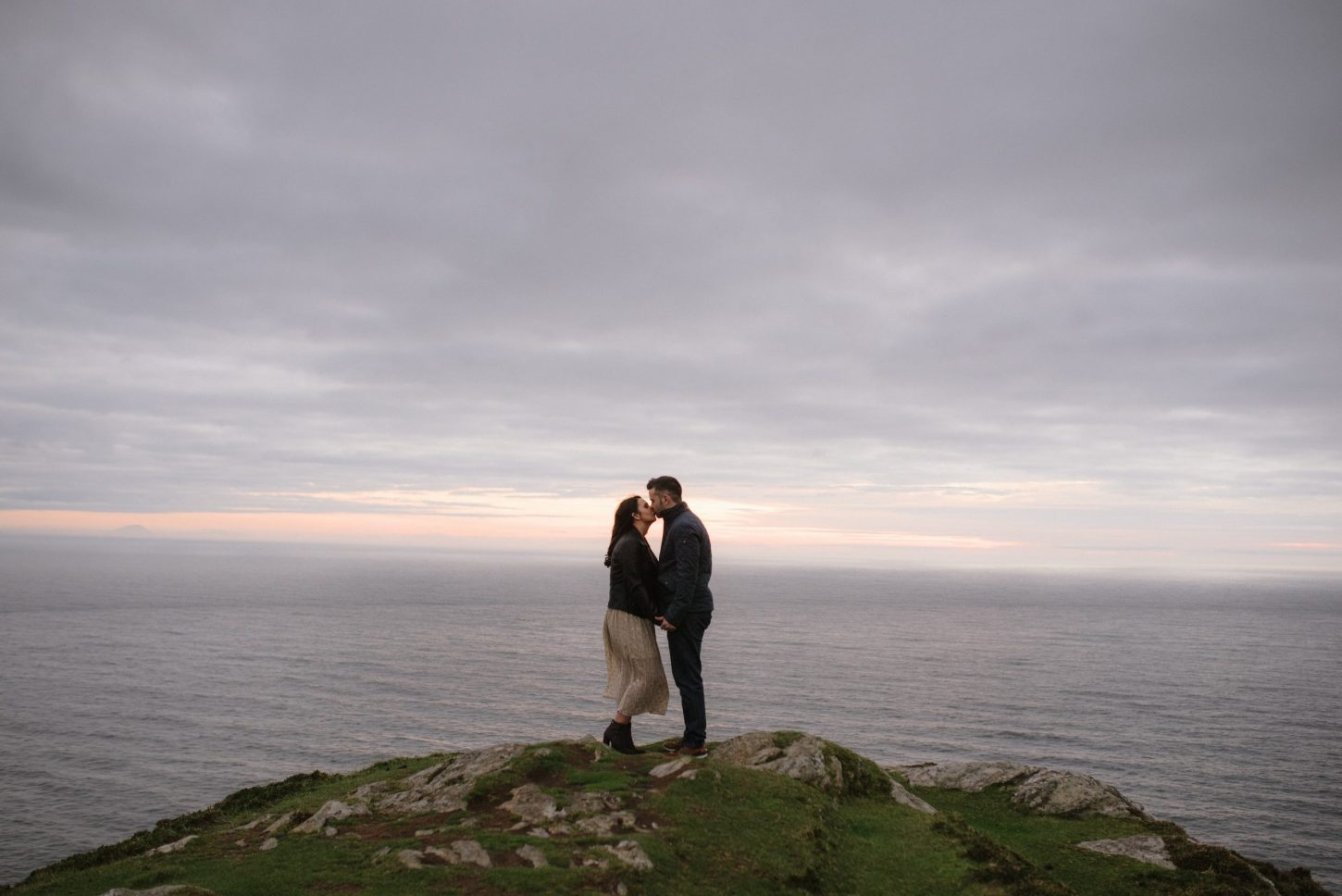 slieve league elopement couple