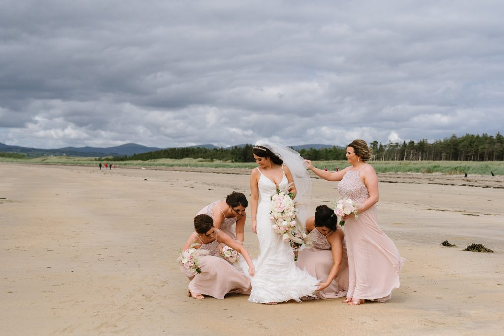 bridal party on donegal beach